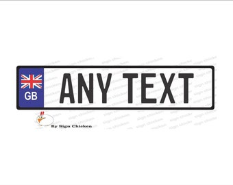Iceland Any Text Personalized Novelty Aluminum Car License Plate