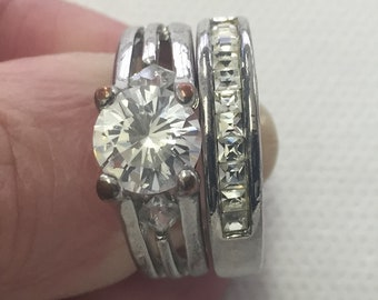Distressed  Wedding Ring Band Costume  Clubbing.