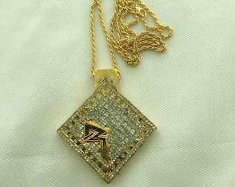 Huge Diamonds forever hip hop pendant