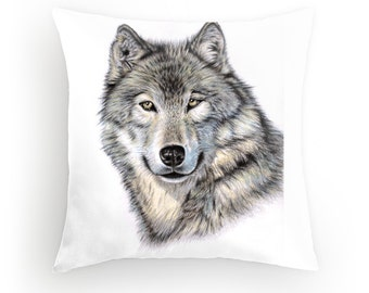 Pillow 40 x 40 cm - Wolf - incl. filling