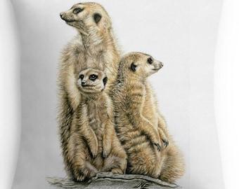 Meerkats Pillow 40 x 40 cm - Meerkats