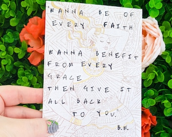 Buddy Wakefield Quote Card, Spoken Word Poetry Card