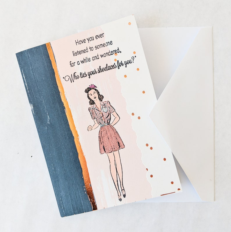 Snarky Friend Vintage Woman Note Card