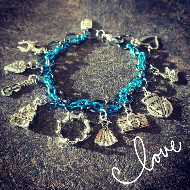 The Selection inspired Charm Bracelet image 0