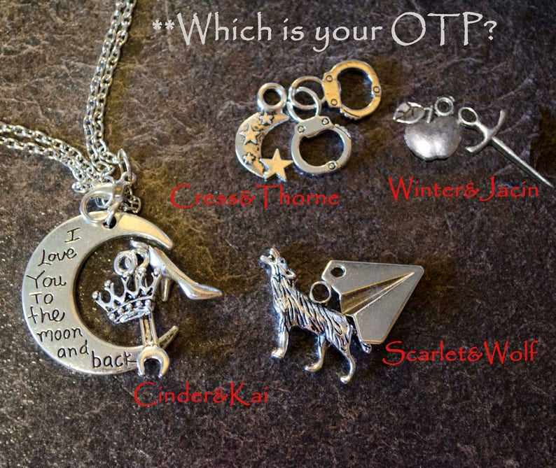 The Lunar Chronicles Love to the Moon Pendants and Bookmarks image 0