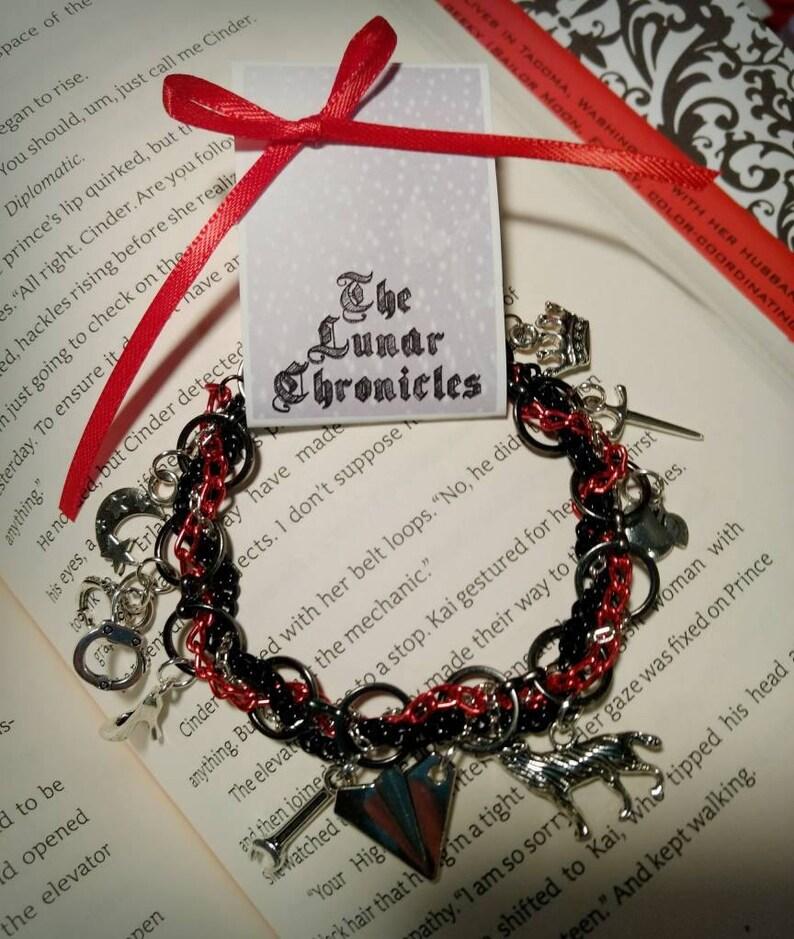 Lunar Chronicles inspired Charm Bracelet image 1