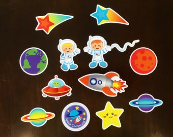 Magnetic Astronauts in Space Playset  - Toddler Magnet Activity