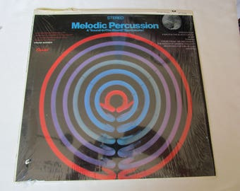 Melodic Percussion A sound in the round Spectacular  Favorites Records  Vinyl 33 1/3 Album Sleeve , Gift under 10 Christmas Present