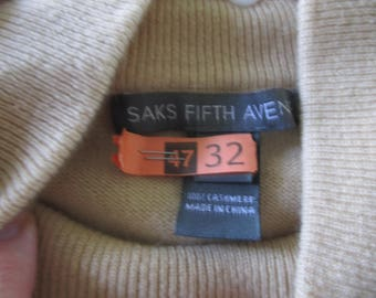 Vintage Sax 5th Avenue  Cashemere  No Sleeve XL SweaterJust Cleaned. Turtle Neck Very Cute Mustard Yellow  matches long sleeve sweater