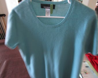 Vintage Jones New York Cashmere Short Sleeve XL SweaterJust Cleaned. Rounded Neck