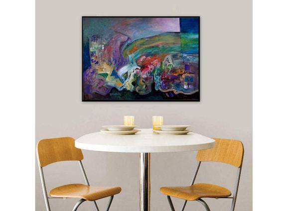 Große Wand Kunst Moderne Wohnzimmer Abstrakte Malerei | Etsy