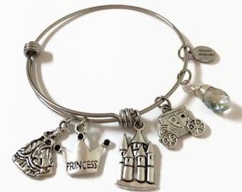 Fairy Tale Princess Expandable Bracelet Fairy Tale Stacking Bracelet Princess Crown Charmed Adjustable Bangle Princess Stacking Bracelet