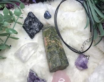 Crystals for mom, mommy bag, gift for mom, Unakite, rose Quartz, amethyst, clear Quartz, sodalite, black tourmaline, spiritual healing,