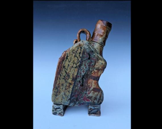Handmade Ceramic House Bottle with Stories