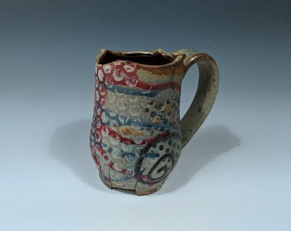 Handmade ceramic Mug, 18 oz.
