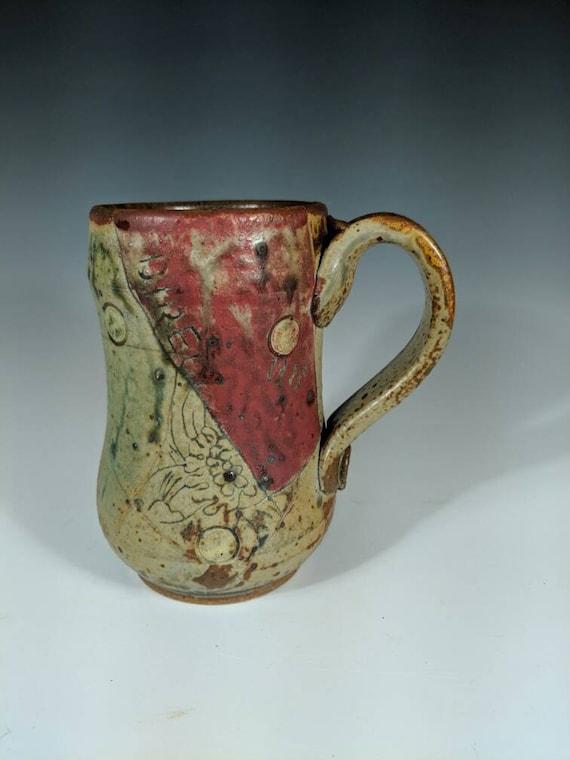 Handmade ceramic large mug,