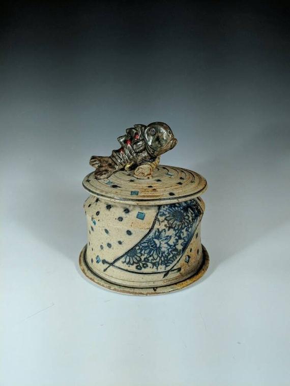Handmade Ceramic Fish jar
