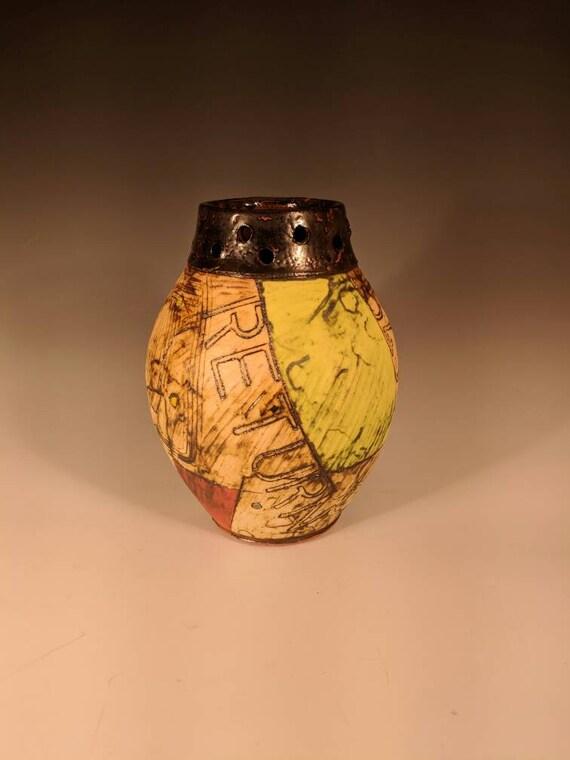 """Handmade Ceramic  Vase, with """"return for deposit"""""""