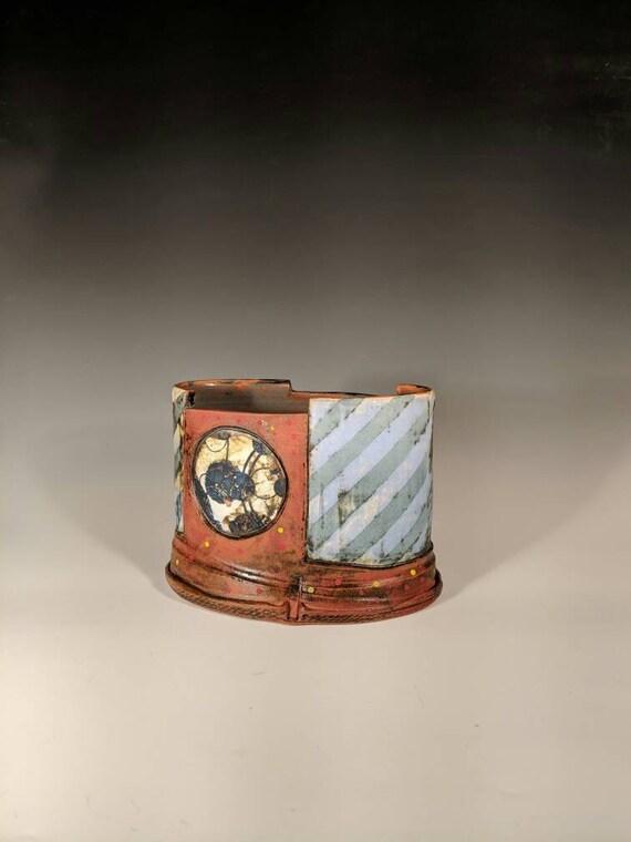 Handmade Ceramic oval jar