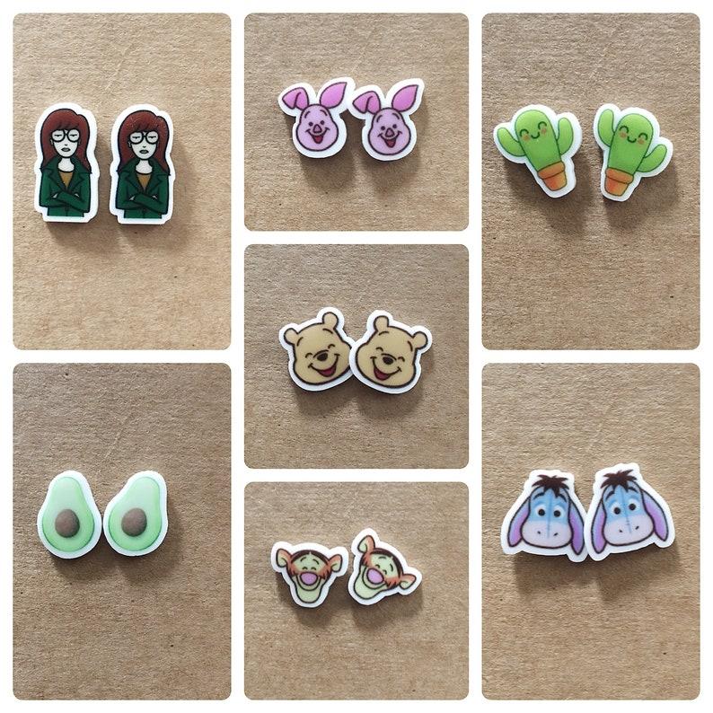 06aa57b1d Small earrings. Acrylic earrings. Childrens earrings. Fun | Etsy