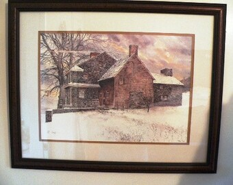 "Peter Sculthorpe "" WINTER AT BRANDYWINE"" signed,numbered lithograph"