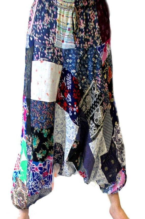 UNISEX Harem Trousers patch print - Patchwork Ali
