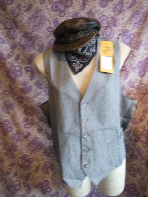 funky SteampunkTrueVintage mensunisex navy pinstripe3Waistcoat Size 38