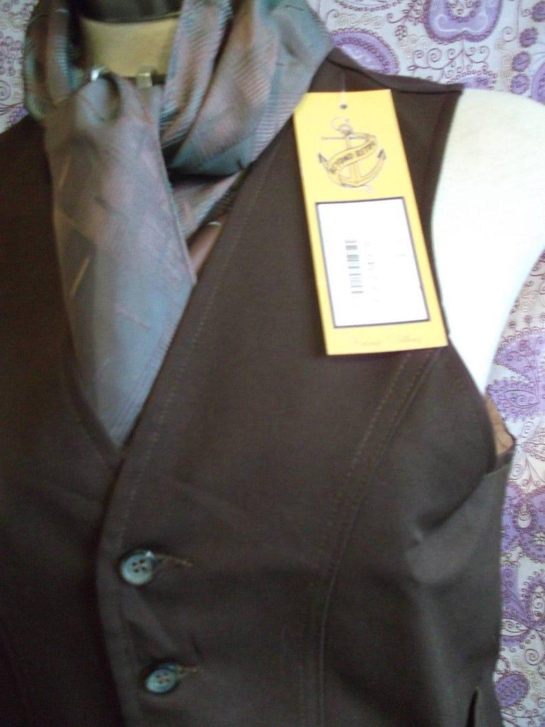 funky SteampunkTrueVintage mensunisex brown Waistcoat Size 36