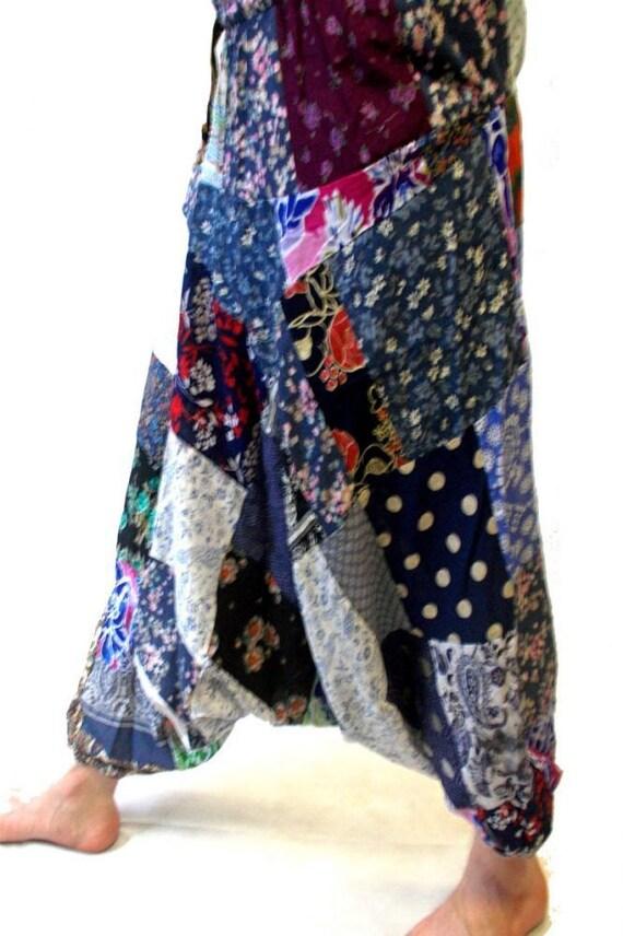 UNISEX Harem Trousers Harem Trousers3 - Patchwork
