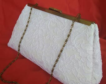 ivory off white floral lace summer purse wedding evening bridal clutch PURSE BBsCustomClutches