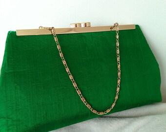 Emerald green purse | Etsy