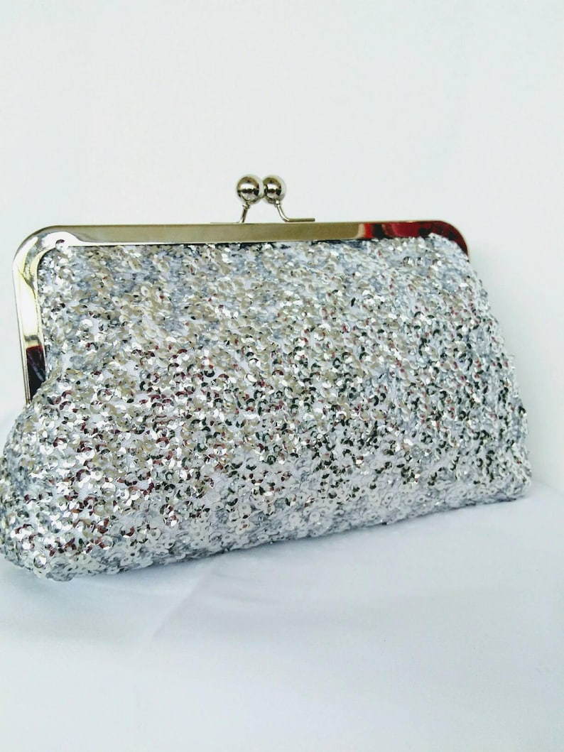 8b83ba6aff5b Sequin silver clutch purse burgundy navy blush rose gold