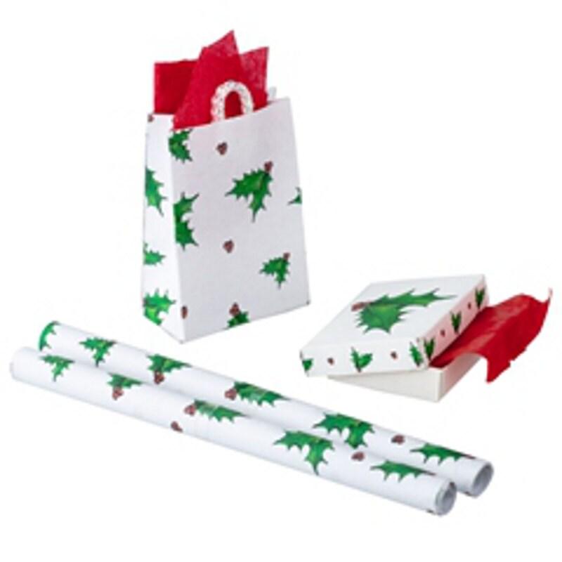 Weihnachts-Box mit Gewebe Geschenktüte mit Gewebe und Rollen | Etsy