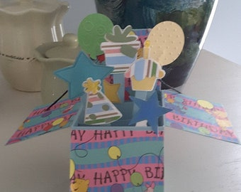 Winnie the Pooh pop up box card Birthday
