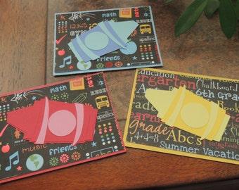 Set of School Notecards - teacher gift, bus driver, new school year