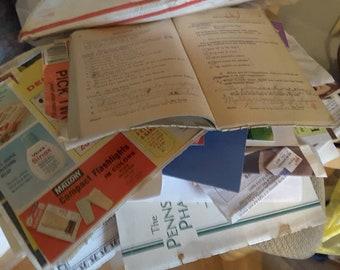 100+ piece vintage ephemera pack for junk journals, smashbooks, collage art projects, inspiration