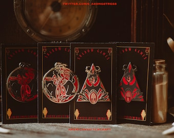 Unofficial Hazbin Hotel Alastor Shadow Games Pin Set