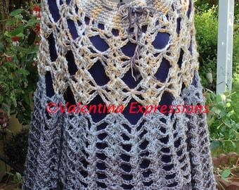 Sweater Champagne and Grey Colors with Bell Sleeves