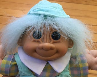 Vintage 1980s Soft Treasure Trolls Baby Doll Toy!