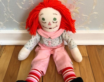 Vintage 1970s Pink Raggedy Ann Rag Doll!