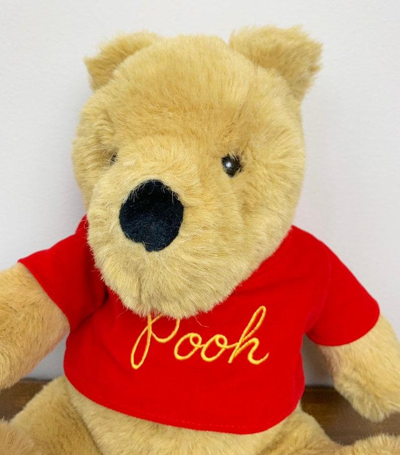 Vintage 1990s 90s Large Winnie the Pooh Gund Stuffed Plush Bear Doll!