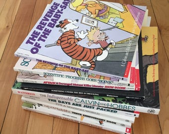 Vintage 1990s Calvin and Hobbes Comic Book Graphic Books! Bill Watterson