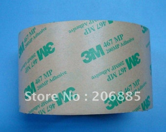 3M 467MP Double Sided Tape - 2 Inches Wide - Waterproof and UV Resistant - Transfer Tape