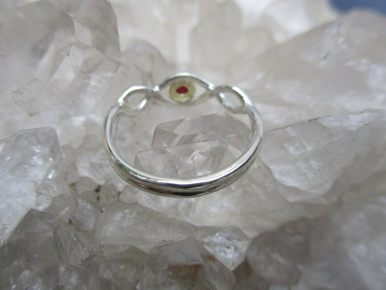 Ruby Ring ~Sterling Silver /& 18K Gold~ Handmade w African Ruby Beautiful