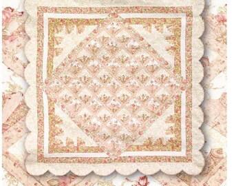 """PDF Quilt Pattern """"Meet Me In Paris"""" Scallop ~ Fan Quilt"""
