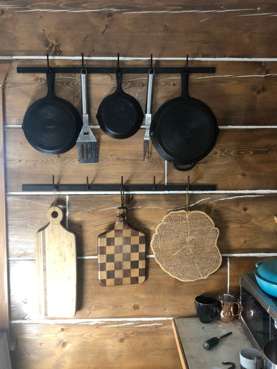 Farmhouse Pot Rack - Hanging Pot Rack - Kitchen Organizer