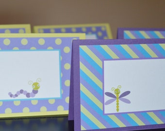 Bug Table Tent - Food Label - Place Cards - Available in ANY Theme in my shop - Set of 6