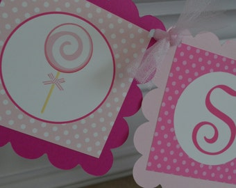 Sweet To Be One Banner - Pink Birthday Banner - 1st Birthday Banner - Party Packs Available