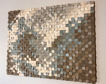 "Wood wall art, wood wall decor, wood wall panel art, 3D wood wall art, wood wall art large, 40"" x 50"", wood diffuser art, FREE SHIPPING!"