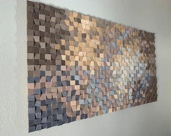 """Wood wall art, wood wall decor, wood wall panel art, 3D wood wall art, wood wall art large, 30"""" x 60"""" art, wood diffuser art, FREE SHIPPING!"""